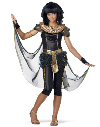California Costumes Dark Egyptian Princess Tween Costume, (Egyptian Dress For Girls)