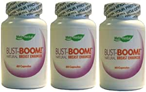 3 Bottles - Bust-Boom! Breast Enlargement/Acne Pills - Female Sexual Enhancement - 180 Day Supply