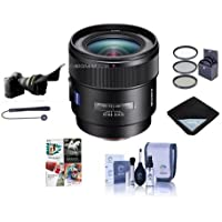 Sony 24mm f/2 SSM Distagon T Carl Zeiss Alpha A DSLR Mount Lens - Bundle With 72mm Filter Kit, Flex Lens Shade, Lens Wrap, Cleaning Kit, Capleash II, Software Package