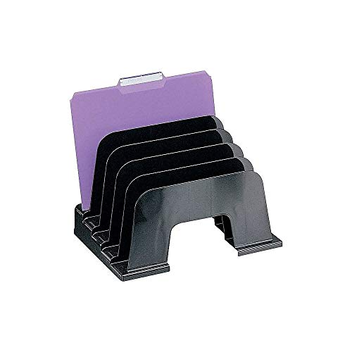 DPS by Staples 812476 Black Recycled Plastic Desk Collection Large Incline Sorter