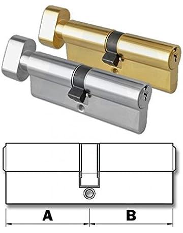 42//52T Thumb Turn Euro Cylinder Barrel Door Lock for UPVC Doors Dual Finish