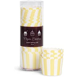 Baking Cups with Limoncello Stripes