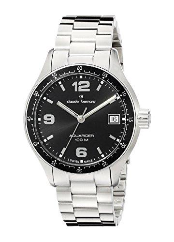 Claude Bernard Men's 70169 3 NIN Analog Display Swiss Quartz Silver Watch