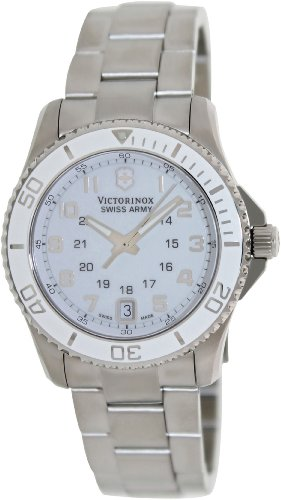 Victorinox Swiss Army White Dial Stainless Steel Quartz Ladies Watch 249051