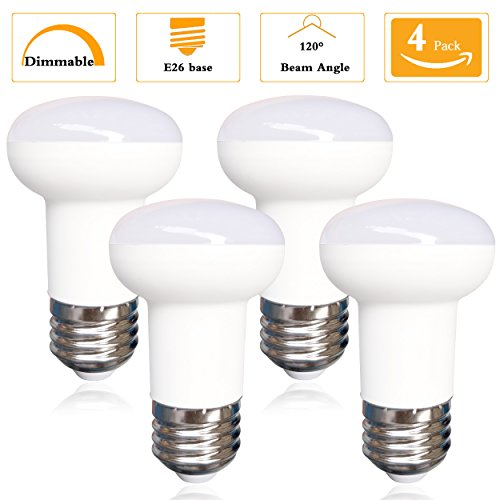 4 Pack-5W R16 LED Mini Reflector Dimmable Bulb, 50W Incandescent Replacement,E26 Medium Base CRI 85+,5000K Daylight White 120 Degree Ideal for Bathroom,Living room, Bedroom, Display (Watt Mini Guitar)