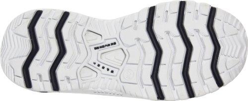white Slip premix Us Skechers Women's Bianco on Sport Sneaker Marino Blu 10 M Premium navy tItqw0S