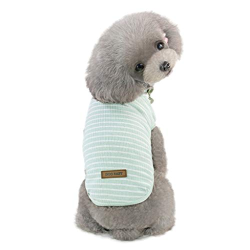 - JJHYDZ Dog Clothing Costume Clothing for Most Dogs S-XXL Dog Summer Vest Most Dogs Classic Striped Vest Style