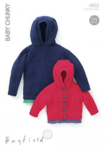 fe6eb509997baf Sirdar (Hayfield) Baby Chunky Children s Jacket   Sweater Knitting Pattern  4452  Amazon.co.uk  Kitchen   Home