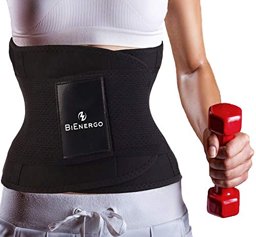 Waist Trainer Belt Unisex Waist Trimmer for Weight Loss Back and Posture Support Exercise Girdle Workout Sauna Belt (Black, Small)
