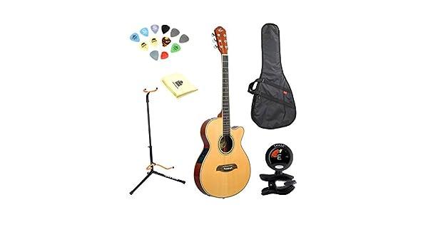Oscar Schmidt og8cen Natural Shallow cuerpo Folk Guitarra púas de ...