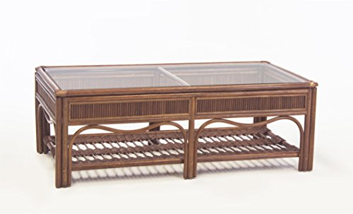 South Sea Rattan Pecan Bermuda Coffee Table