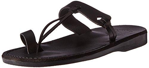 Jerusalem Sandals Men's David Slide Sandal, Black, 42 EU/9 M US