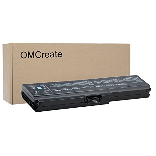 OMCreate New Laptop Battery for Toshiba Satellite C655 A665 L645 M300 M301 M305 M505 U405, fits PABAS228 PA3634U-1BRS PA3634U-1BAS PA3635U-1BAM PA3636U-1BR - 12 Months (M320 Series Laptop Notebook Computers)