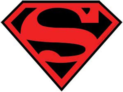 Licenses Products DC Comics Originals Superman Sticker with Red and Black Logo]()