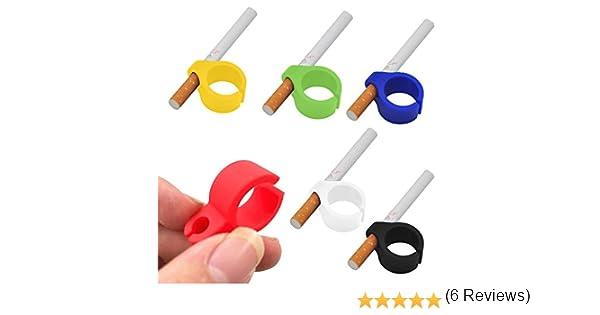 6Pcs Anillo Silicona Dedo Mano Del Cigarrillo Estante Para El Fumador Regular-Soporte De Tabaco (6Pcs): Amazon.es: Electrónica