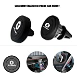 Magnetic Mount, Universal Air Vent Magnetic Car Mount Phone Holder, for Cell Phones and Mini Tablets with Fast Swift-Snap Technology, with 4 Metal Plates