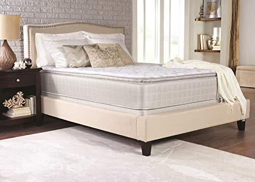 Coaster 350055F-CO Marbella Ii Collection Full Size 13 Pillow Top Mattress with 2 Layers Ultra Soft Quilt Foam Tack N Jump Quilting Foam Topper and Foam Encased Edge Support In White
