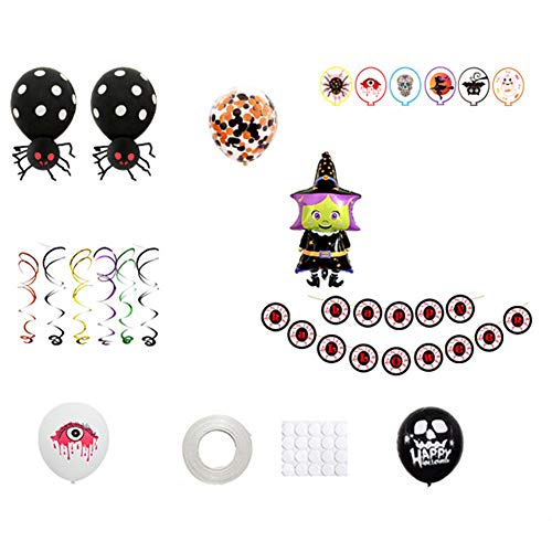 Afco Halloween Party Banner Decor 37Pcs Spider Witch