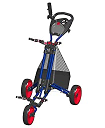 EASY FOLD Golf Push Cart- Blue/Red - GCPro2-BR