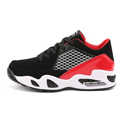 Femme Pour forme Haute Synthétique Cuir Outdoors Basket Mesh 44 Mode Sneakers Lacets Plate 36 Chaussure Homme Rouge Noir Fitness Hiver qET0IwO
