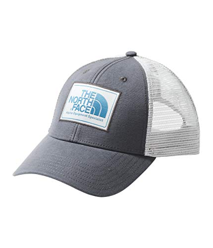 The North Face Mudder Trucker Hat, Asphalt Grey/High Rise Grey/Crystal Teal, Size OS