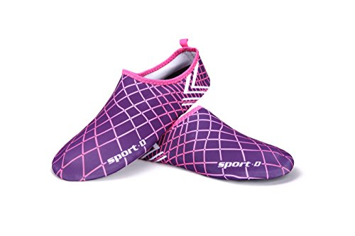 Kitleler Hus Tofflor Vatten Skor Män Kvinnor Multifunktionella Snabba Torra Aqua Strumpor Barfota Skor För Körs Dyka Surfa Simma Beach Purple