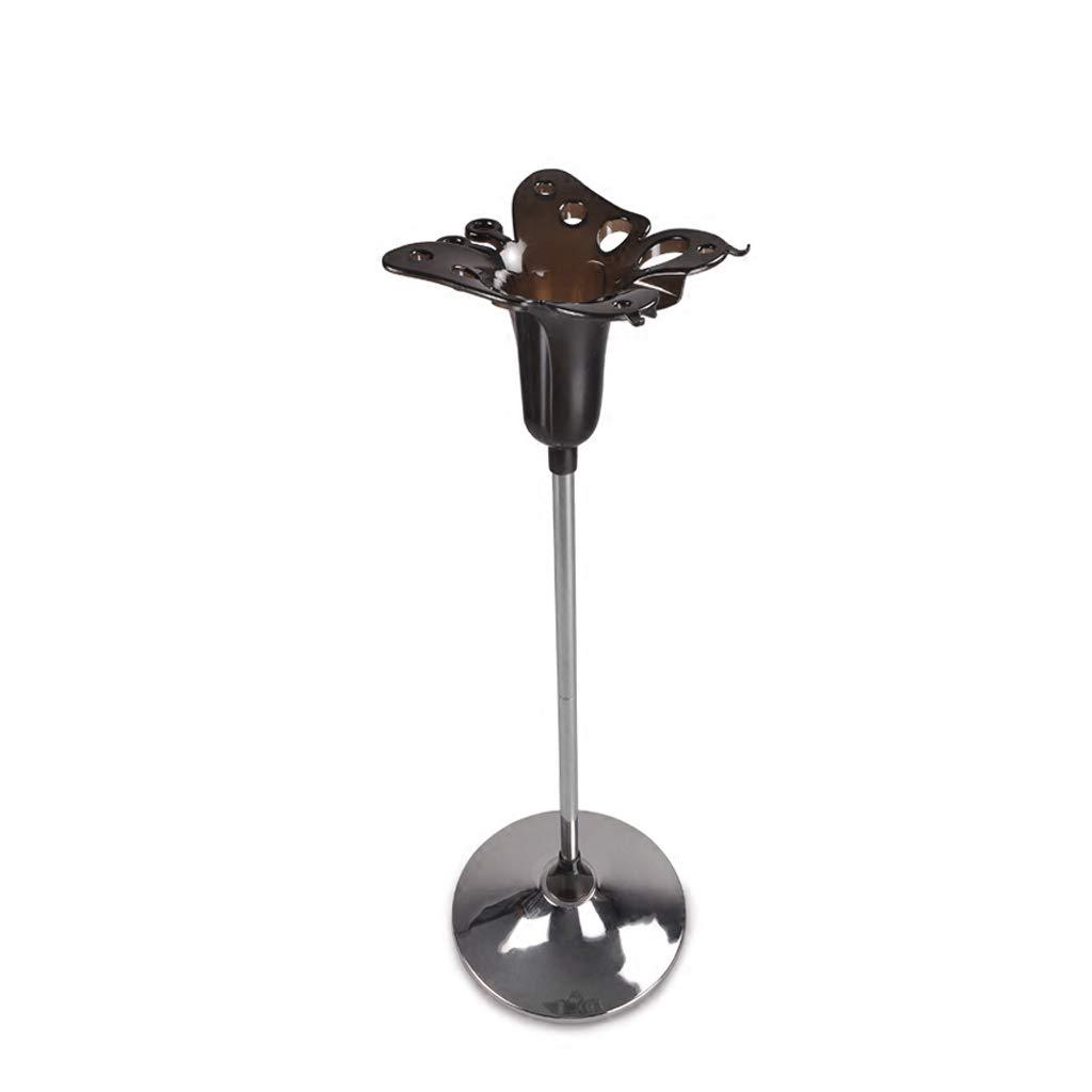Fbwl ヘアドライヤーシート ヘビーノンスリップベースのプレハブヘアドライヤーホルダー、ヘアドライヤー、ストレートナー&トング用プレミアムスタイリングドックヘアステーション収納、88 cm高さ、クローム (色 : ブラック)  ブラック B07Q2XBXCQ