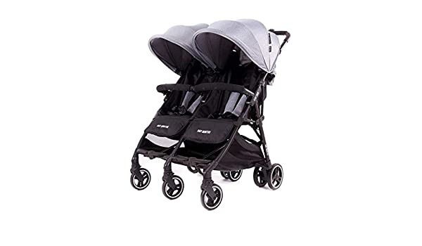 Carro gemelar Kuki Twin Baby Monsters - Color Heather Grey: Amazon.es: Bebé
