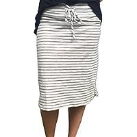 Women Sexy Stripe Skirt Howstar Summer Casual Elastic High Waist Short Skirt