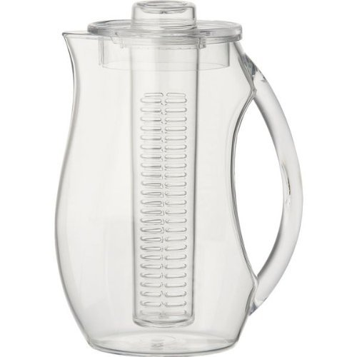 Perlli Tea and Fruit Infusion Pitcher With Ice Core Rod - 2.9 Quart Water Pitcher Infuser (Frozen Water Pitcher compare prices)