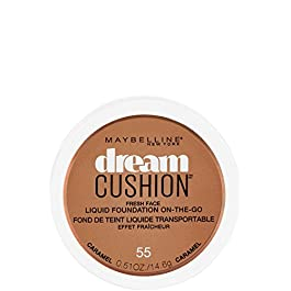 Maybelline Dream Cushion Liquid Foundation, Caramel, 0.51 Ounce