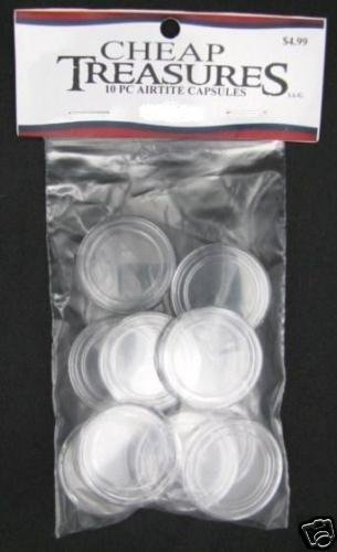 10 PACK OF DIRECT FIT AIRTITE COIN CAPSULES HOLDERS HALF DOLLAR