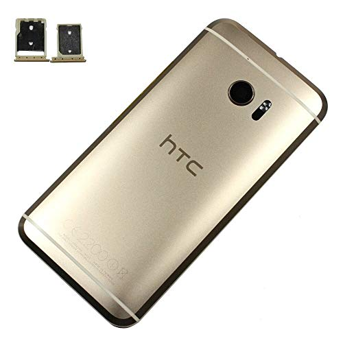 Pack of 1 Back Case Door Cover Housing Replacement Topaz Gold, OEM HTC 10 M10 -