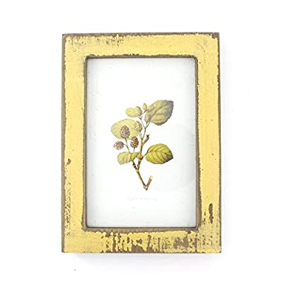 4x6 Inches Simple Rectangular Desktop Family Picture Photo Frame (Yellow) - It's in vintage rustic style Pick your best shot and share Picture size: 4x6 inches - picture-frames, bedroom-decor, bedroom - 41AgFn3T1LL. SS400  -