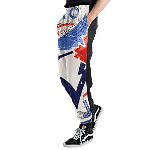 Lovesofun Toronto Blue Jays Men's Casual Jogger Sweatpants Sports Trousers Pant Elastic Waist 3XL ()