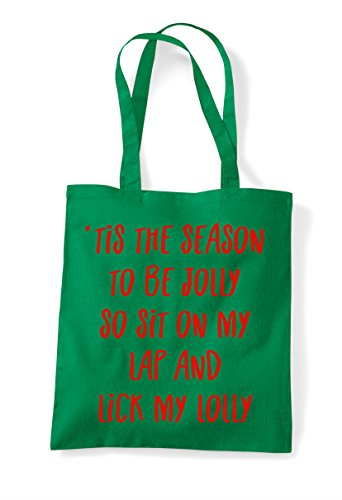 Bag Be On Christmas Festive Jolly And Lick Cheeky Lap Tis The To Tote So Season Lolly My Sit Green Tqntgw0Z