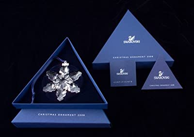 Swarovski 2008 Annual Full-Size Snowflake Christmas Ornament
