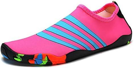 HYH ダイビングシューズシュノーケリングシューズピンク+ブルーパターン速乾性水流靴屋外ビーチシューズ男性と女性水泳シューズマルチサイズ いい人生 (色 : Pink, Size : US9)