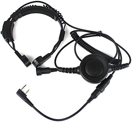 FANVERIM Throat Mic Headset With Finger Ptt Compatible For Kenwood ...