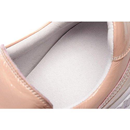 Casual Pink Cuero Zapatos Mocasines Mujer Moda A1417 de con Zapatos Plataforma Mujeres KJJDE Loafers WSXY w76az0q