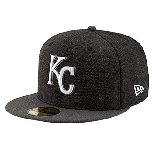 (Kansas City Royals Fitted Size 7 Hat Cap - Charcoal Gray)