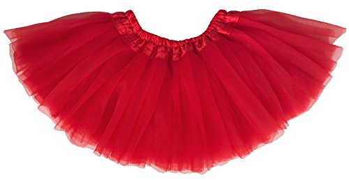 Toddler Red Tutu (Dancina Tutu Toddler Baby Girls' Dressup Soft Ballet Recital Tulle Dress 6-24 months Cardinal Red)