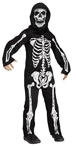 Fun World Little Boy's Skeleton Phantom Kids Costume Childrens Costume, Multi, Large