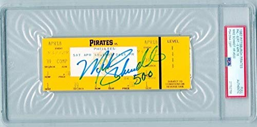 Mike Schmidt Autographed Signed 4/18/1987 Full Unused Ticket 500th Home Run Phillies PSA/DNA Authentic