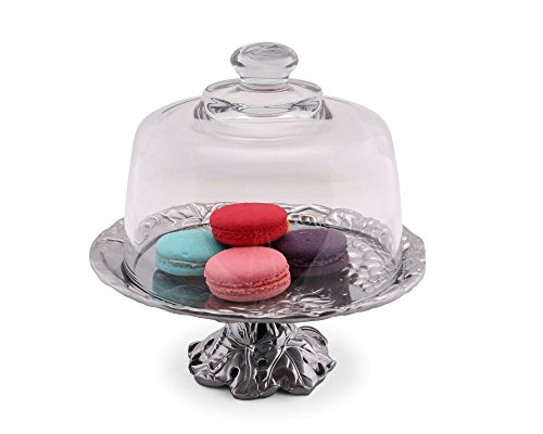 Stand Grape Cake (Arthur Court Grape 8-Inch Footed Plate with Glass Dome)