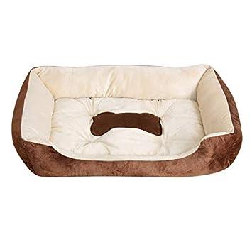 Otoño Invierno Mascotas Perro Cama Calentamiento Casa de Perro de Felpa Alto Elástico PP Algodón Mascota Nido de Perro Nido Caliente para Cachorro de Gato ...