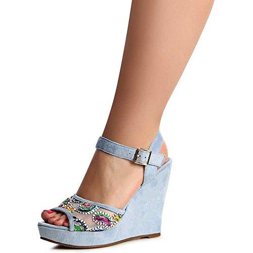 topschuhe24 - Sandalias de vestir para mujer Azul