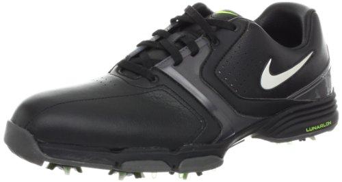 Nike Golf Men's Nike Lunar Saddle Golf Shoe,Black/Metallic Silver/Metallic Dark Grey/Volt,8 M US