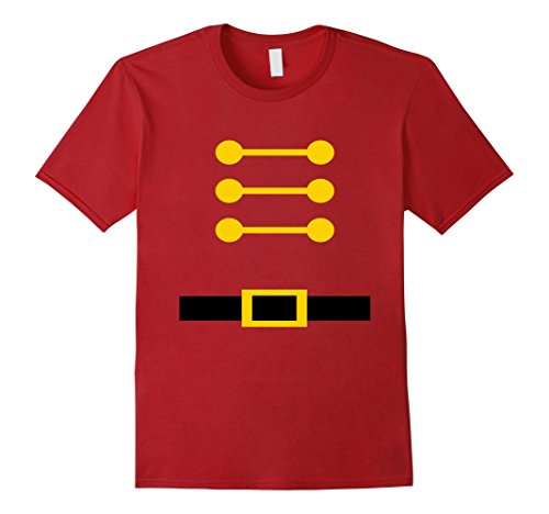 Mens Toy Soldier Christmas Nutcracker Costume T-shirt Small (Nutcracker Costumes For Men)
