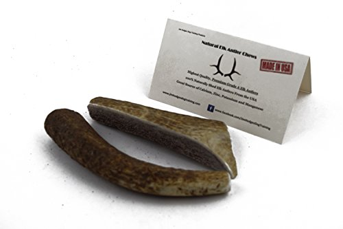 JimHodgesDogTraining Brand - Grade A Premium Quality Elk Antler Dog Chew - Whole and Split Antler Bone Treat - Made in USA - Natural Shed - No Preservatives (Whole, Small Combo)